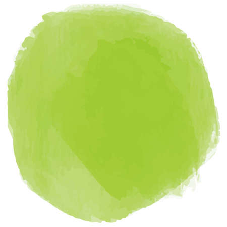 Yellow-green circle in watercolor style
