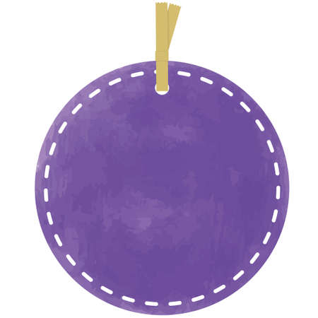 Purple circular tag in watercolor style 向量圖像
