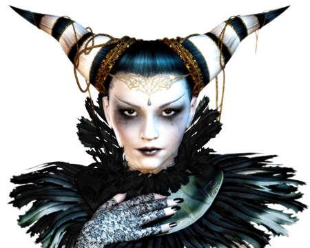 maquillaje de fantasia: un retrato de una dama en traje de carnaval