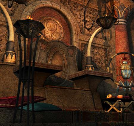 trono: Un Salón del Trono a partir de una película de fantasía