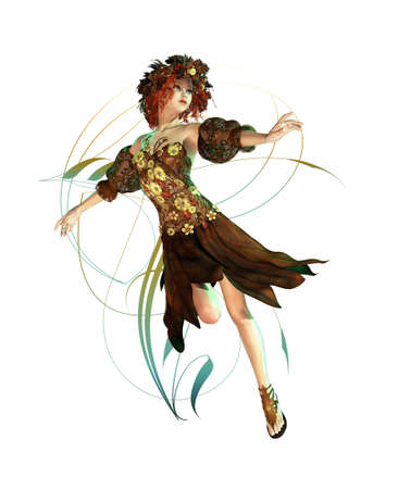 represented: a fairylike girl that represented the Autumn Stock Photo