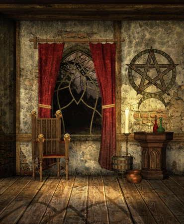 pentacle: Camera medievale