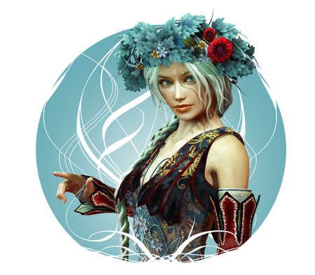 girl in fantasy style photo