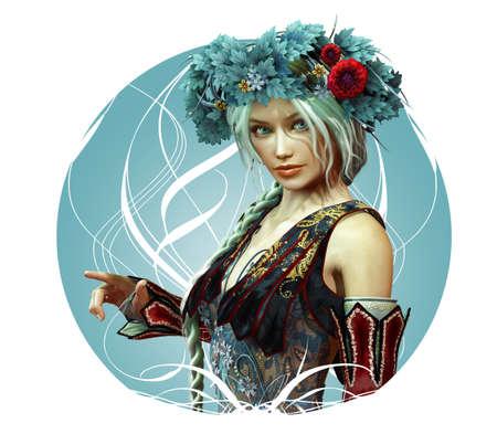 magical fairy: girl in fantasy style