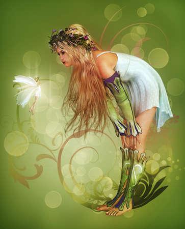 волшебный: Маленькая девочка нашла фея