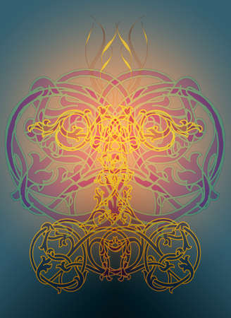ecard: An ornamental illusttration in the celtic knots style Stock Photo