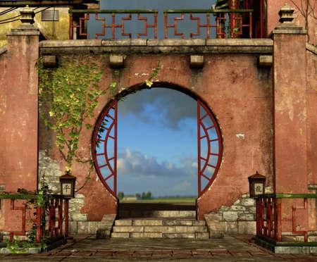 Round Gate Stock Photo - 13896945