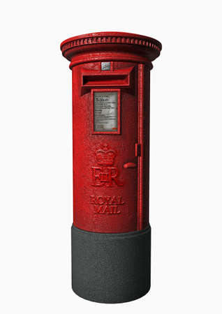 a London letter box in 3d clipart Stock Photo - 13896874