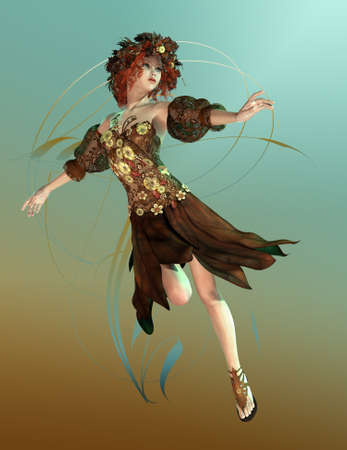 represented: a fairylike girl that represented the Autumn.