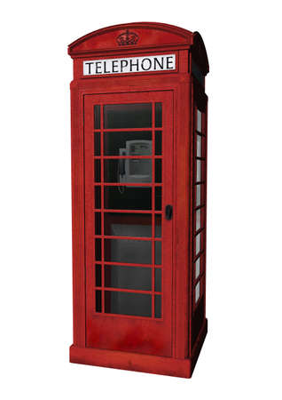 telephone box: a London phone booth in 3d clipart