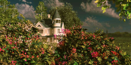 victorian house: a nice manor in a rural environment