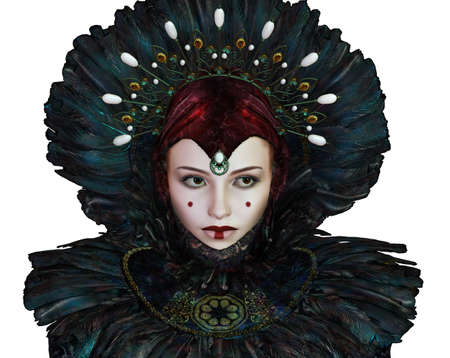 fantasy makeup: portrait of a young woman with fantasy makeup