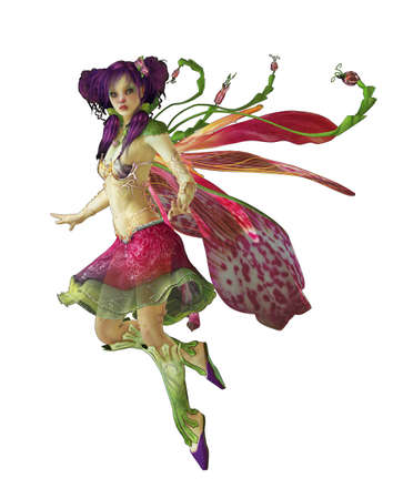 fairies: a graceful fairy with wings and a cute hairstyle