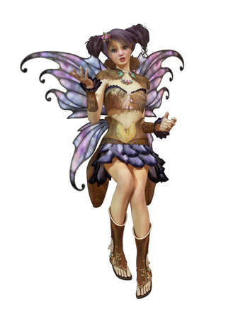 a graceful fairy with butterfly wings and a cute hairstyle photo
