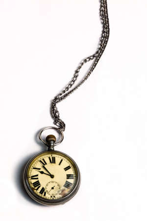 Interior of an old pocket watch photo