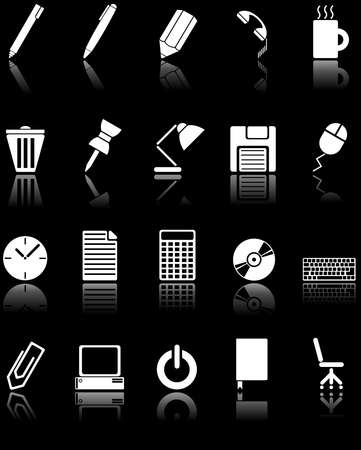 Web icons - Office utensils photo