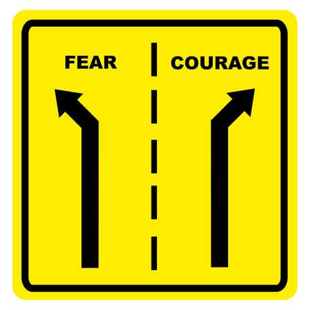 용감: 공포  용기