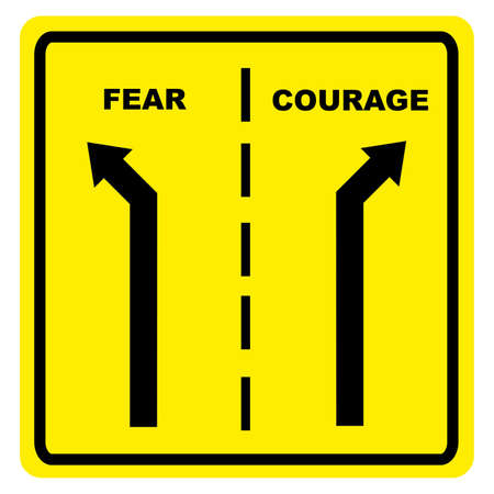 brave: Fear  Courage Stock Photo
