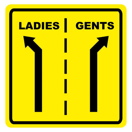 gents: Ladies  Gents sign Stock Photo