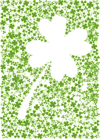 st paddys day: Ilustration of a clover made by smaller clovers Stock Photo