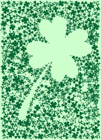 st paddys day: Illustration of a clover made by smaller clovers