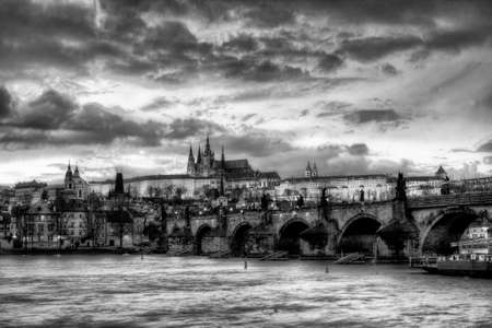 mapped: Prague castle at night - HDR photo Editorial