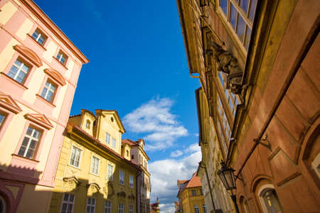 central europe: Street in Prague, Central Europe, with common architecture for that area of Europe.