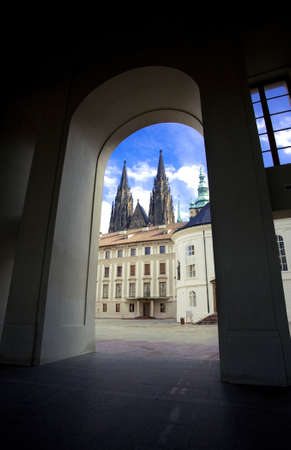 vitus: View of the towers of St. Vitus cathedral in Prague