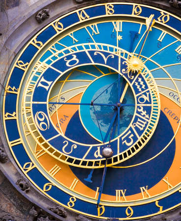 astronomical: Detail form the astronomical clock in Prague