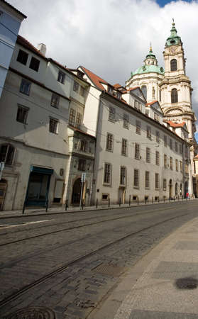 central europe: Street in Prague, Central Europe