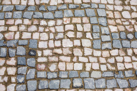 cobble: Close up of a cobble stone road Stock Photo