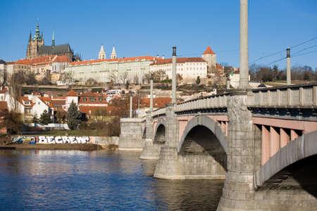 manes: Prague castle and Manes bridge Editorial