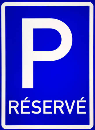 reserve: Parking sign with reserve written on it