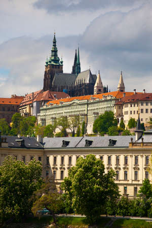 vitus: View of the Prague castle and Saint Vitus cathedral