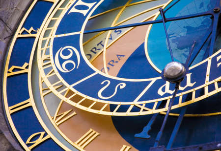 time clock: Detail form the astronomical clock in Prague