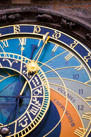 astronomical: Detail from the astronomical clock in Prague