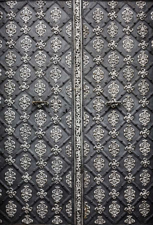 large doors: Detail from old door with ornaments