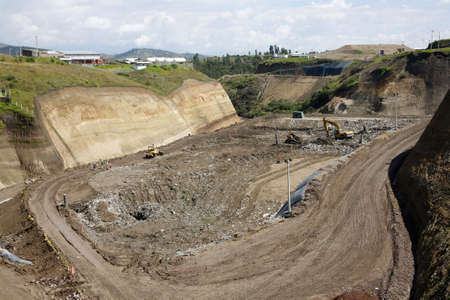 landfill site: Landfill site near Quito, Ecuador Stock Photo