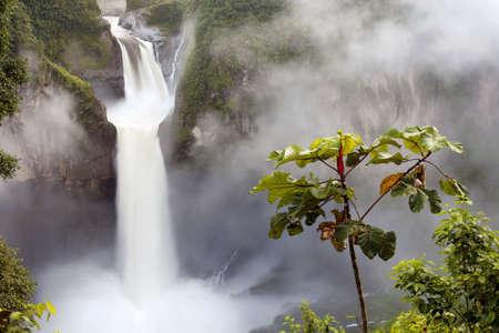 san rafael: San Rafael Falls, Ecuador Stock Photo