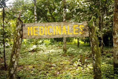 medicinal plant: Botanical garden sign for medicinal plant section