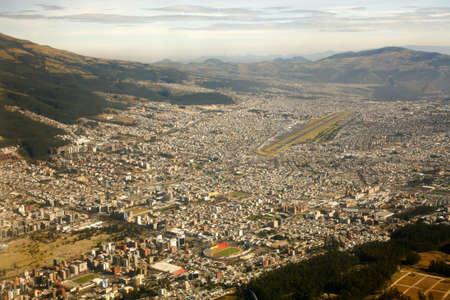 Aerial view of the city of Quito, Ecuador