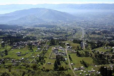 montane: View of the Inter-Andean valley near Quito, Ecuador Stock Photo