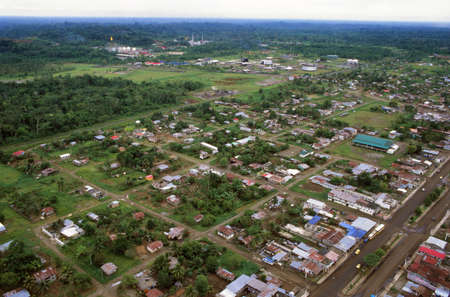 Shushufindi, an oil town which has grown around an oil refinery in the Ecuadorian Amazon photo
