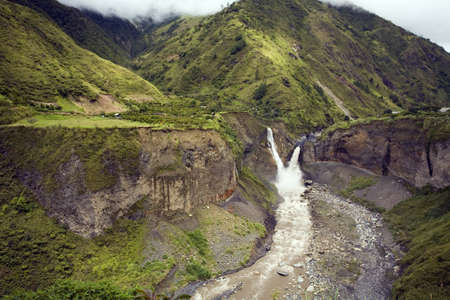 The Agoyan Waterfall,  the  upper Rio Pastaza, Ecuador, on the eastern slopes of the Andes Stock Photo