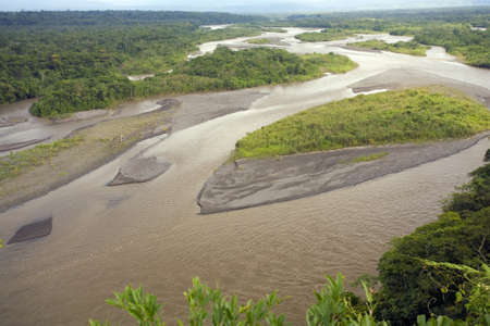 The Rio Pastaza in the Ecuadorian Amazon photo