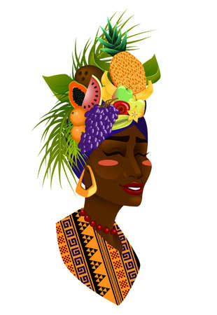 watermelon woman: Beautiful woman with a fruit hat
