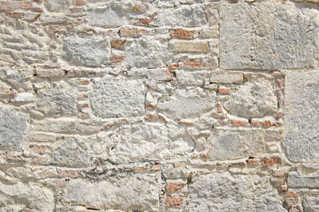 Old stone wall background, St Nicholas church photo