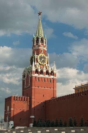 kremlin: Spasskaya tower, Moskou, Kremlin
