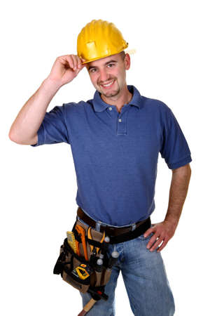 handy: fine image of friendly handy man portrait Stock Photo