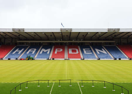stadia: Hampden Park.  A view of the North Stand at Hampden Park. The stadium is Scotlands national football stadium.